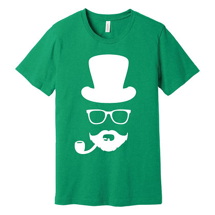 Leprechaun Moustache Unisex Tee (BC3001CVC)
