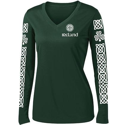 Irish Celtic Pattern Womens Long Sleeve (LST353LS)
