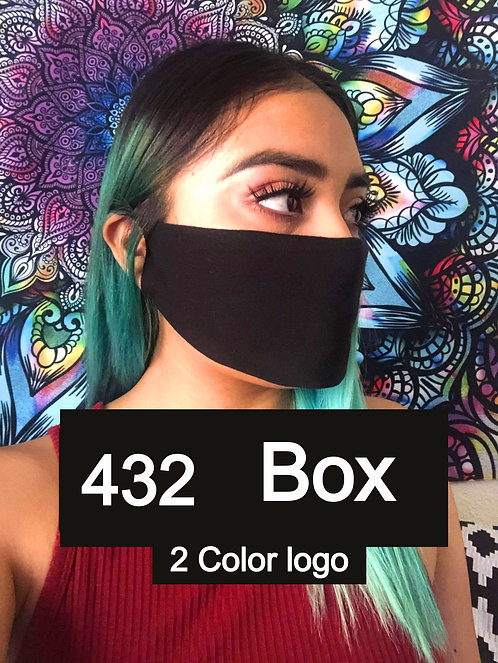 Single Ply Multicolored face mask 432-Box 2 Color logo