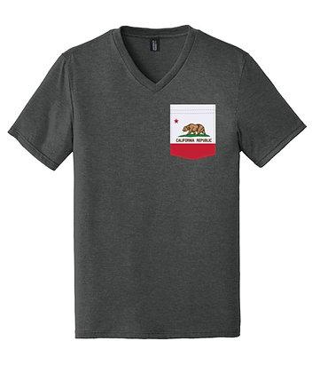 California Men's V-Neck Pocket shirt DT1350