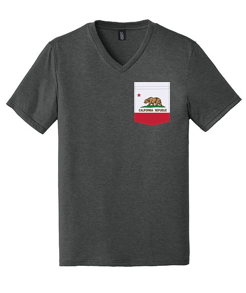 California Men's V-Neck Pocket shirt DT1350