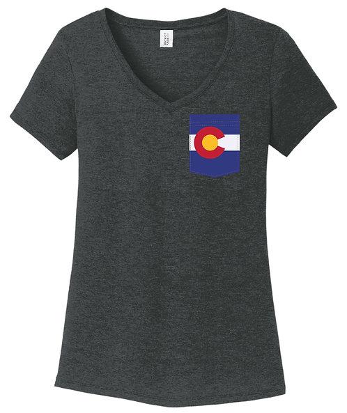 Colorado Girl V-Neck Pocket shirt DM1350L