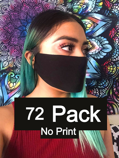 Single Ply Multicolored face mask 72 pack No print
