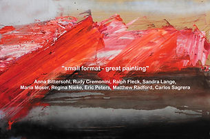 "Regina Nieke at Gallery Brennecke ""small format - great painting!"""
