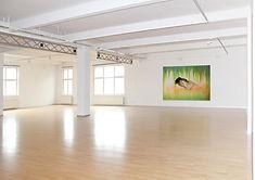 Regina Nieke at SHOWROOM Berlin / Untitled (Weeping Willow) 2013  Spray paint/ Oil on canvas  180x250cm