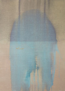 Regina Nieke at AOK Kunstpreis - Art Award/ Untitled (Sea) 2014 Acrylic / Oil on canvas 140x100cm