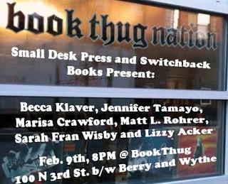 Small Desk Press & Switchback Books Reading!