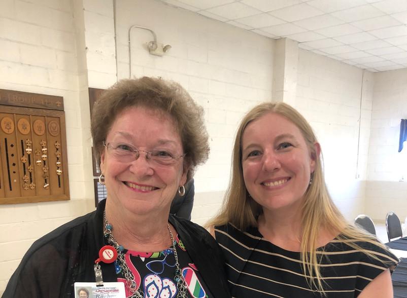 My good friend and Treasurer of Chesapeake Barbara Carraway