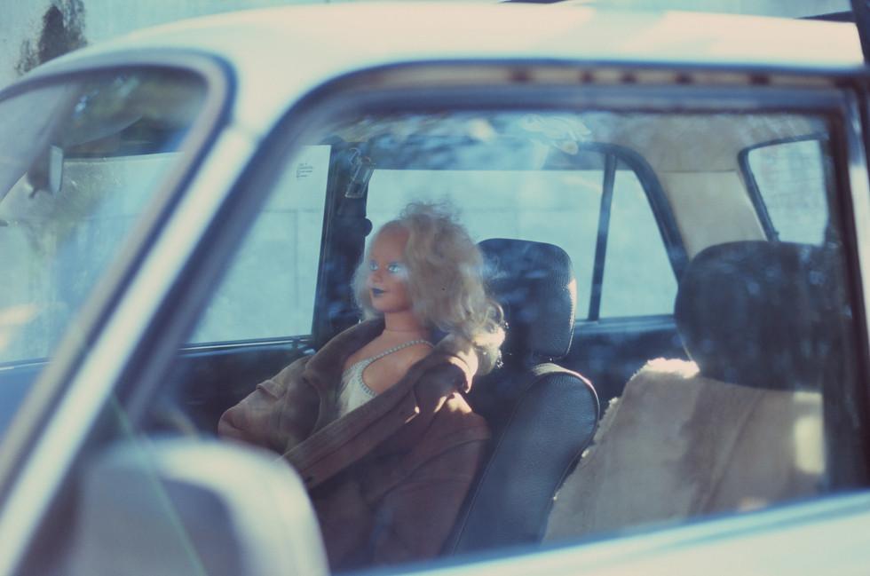 RUSSIAN GIRL IN A CAR