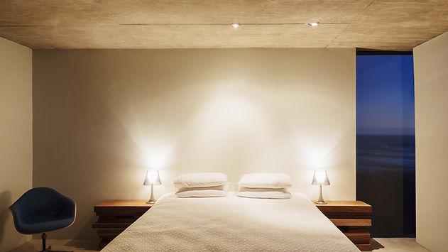 bedroom lit up