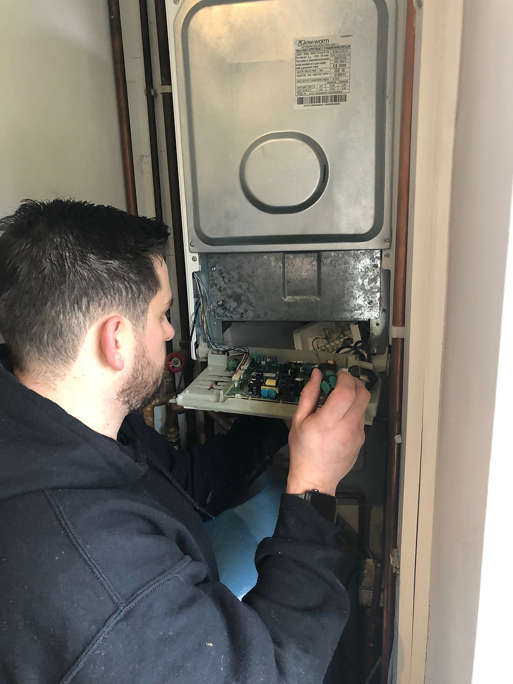 Boiler service and unsafe appliance