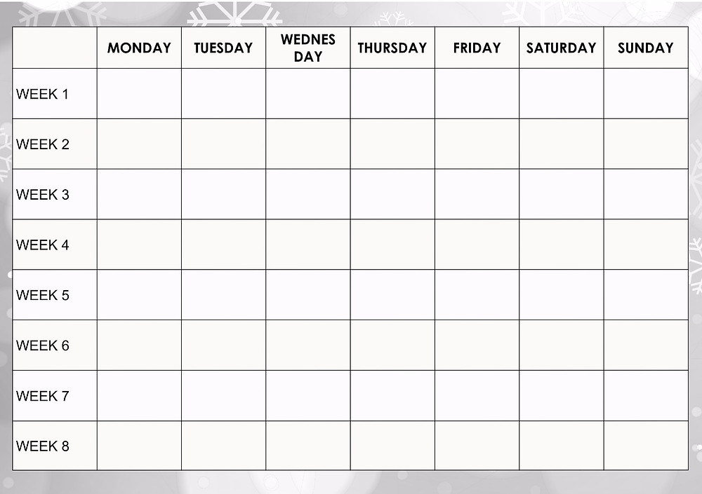 8 week fitness planner - simple and free