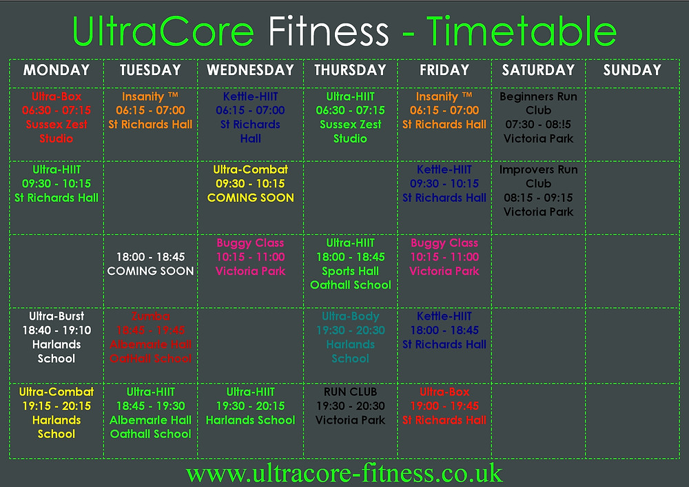 Fitness classes in Haywards Heath including Zumba and HIIT