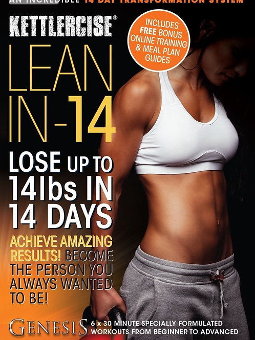 Kettlercise Lean-IN-14 Kettlebell DVD 4 Disc