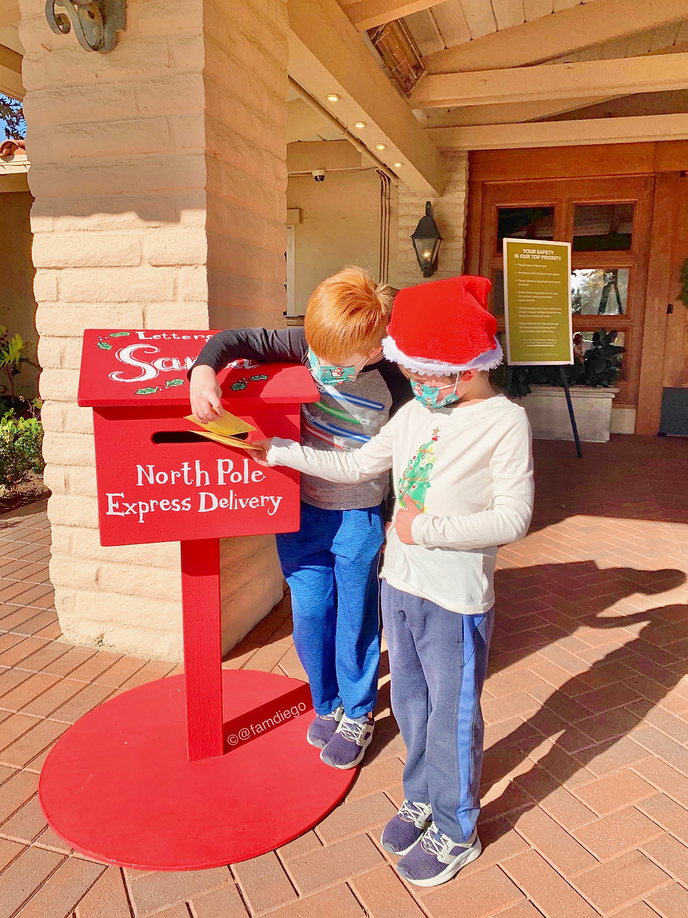 Rancho Bernardo Inn Hotel Santa Mailbox Letters San Diego