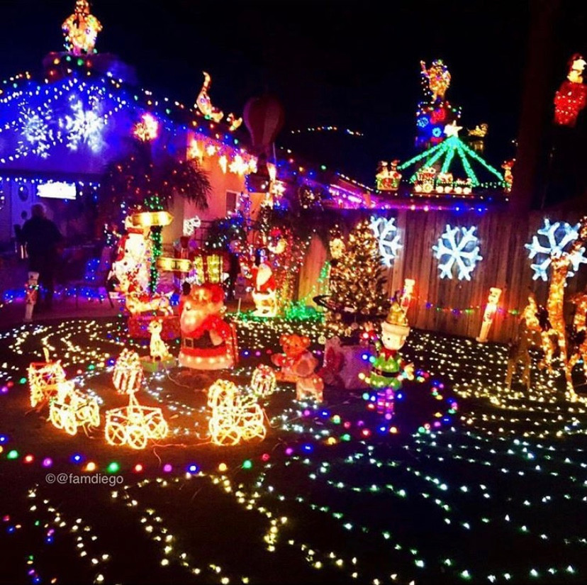 Clairemont Neighborhoods To Drive By Thru See Christmas Lights Best Top Holiday Christmas events activities list guide for families kids are still happening in San Diego December 2020 what to do this year