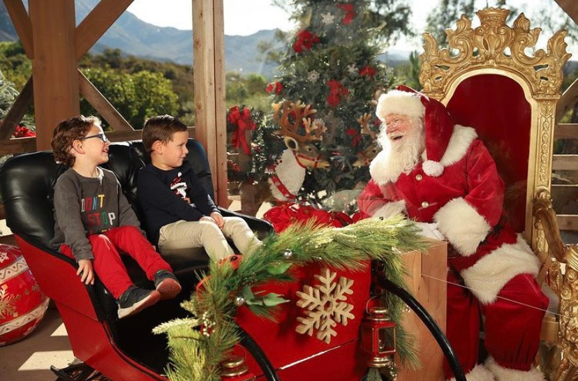 Santa Photos in San Diego that are still open during the stay at home orders Santa's Treehouse in Jamul
