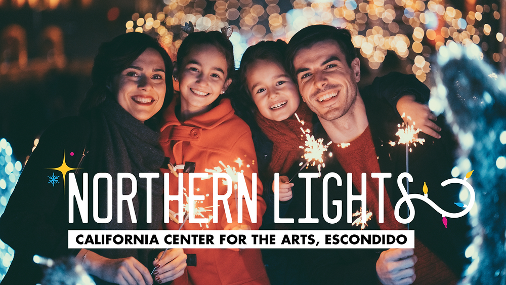 California Center for the Arts CACAE Walk Through Christmas Light Display Escondido Best Top Holiday Christmas events activities list guide for families kids are still happening in San Diego December 2020 what to do this year