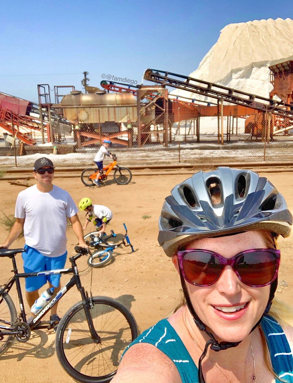 San Diego family bike ride to the South Bay Salt Mines in Chula Vista near Imperial Beach