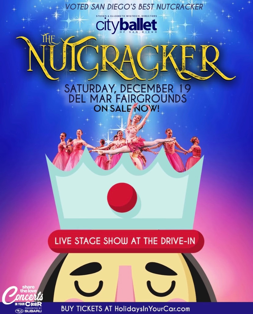 Holidays In Your Car Drive-In Del Mar Live Stage Show The Nutcracker Best Top Holiday Christmas events activities list guide for families kids are still happening in San Diego December 2020 what to do this year