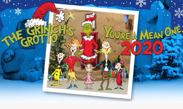 Grinch's Grotto Photos at UTC Mall La Jolla Best Top Holiday Christmas events activities list guide for families kids are still happening in San Diego December 2020 what to do this year