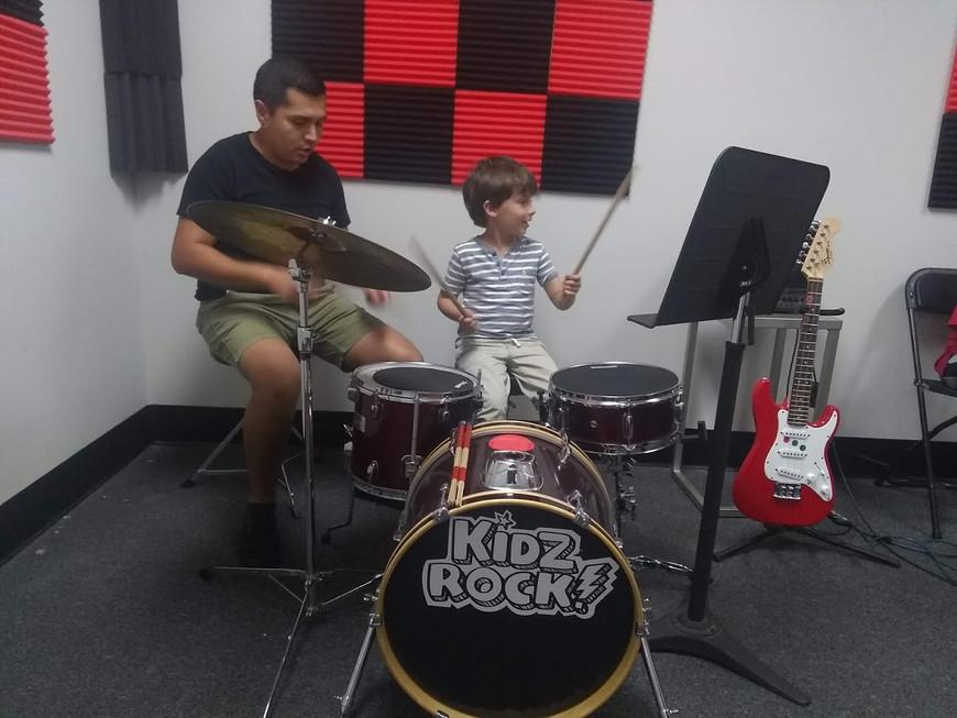 drummer in Kidzrock Class