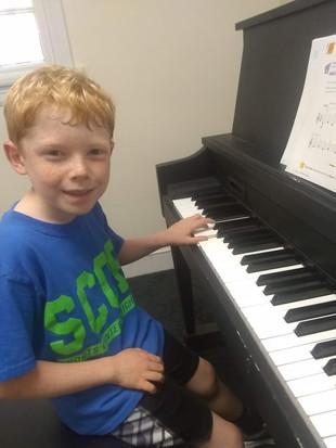 Archer loves piano