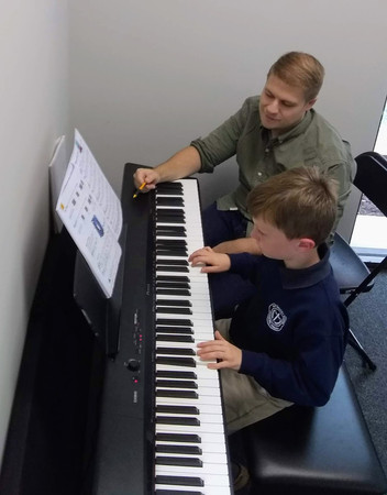 Mr Andrew and George working hard!