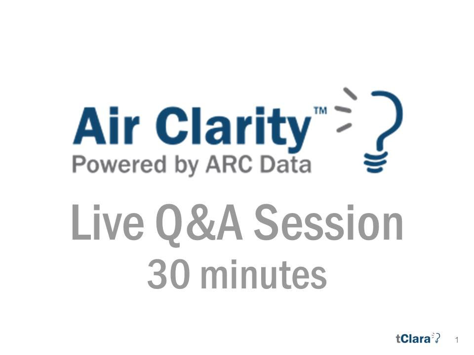 Air Clarity 101 - Introduction and Q&A