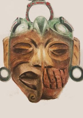 Híbrido de máscaras rituales