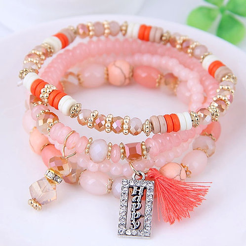 Crystal Beads Fashion Multi-layer Bracelet B