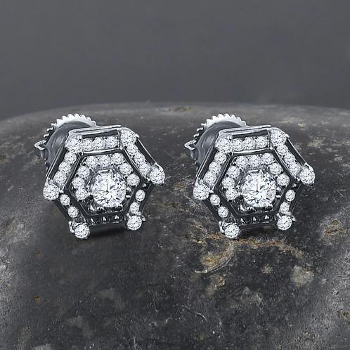 Senary Silver Earrings S
