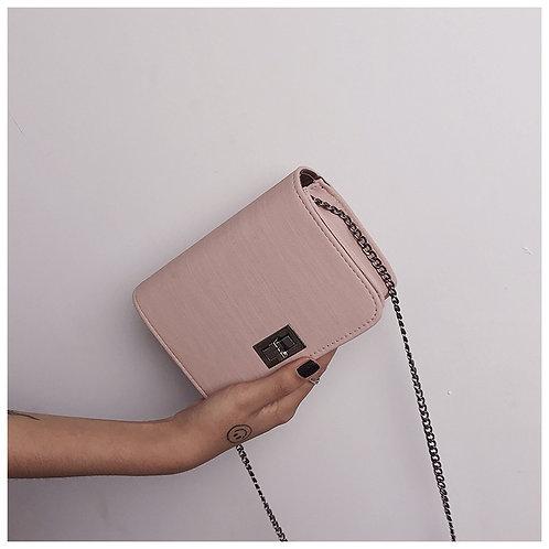 Fabric Pattern Turn Lock Small Bag P