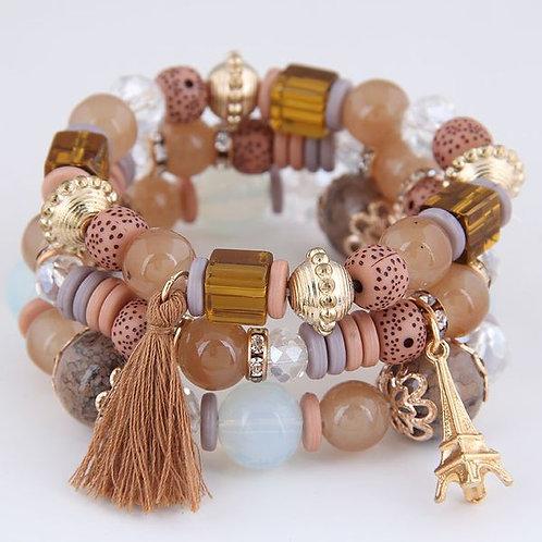 Tower Tassel Candy Beads Bracelet D