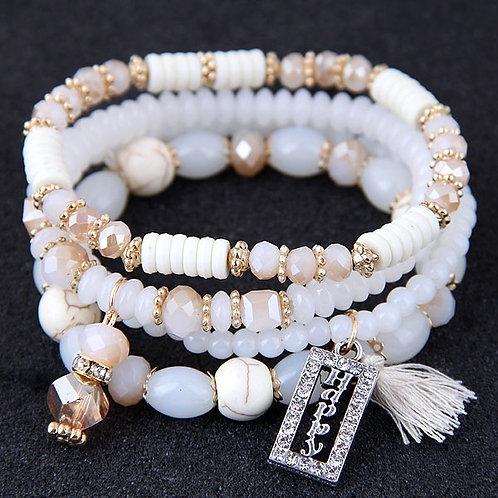 Crystal Beads Fashion Multi-layer Bracelet E
