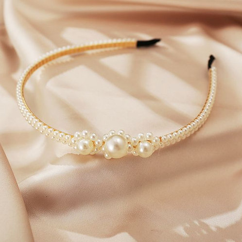 Retro Fashion Pearls Headband I