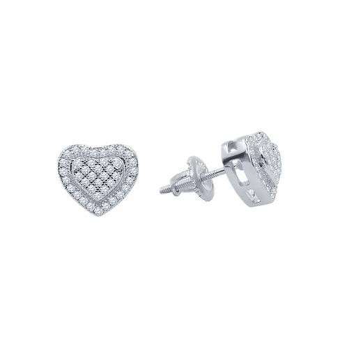 Diminutive Heart Earrings