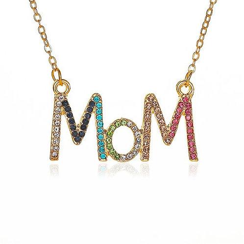 Rainbow Mom Necklace