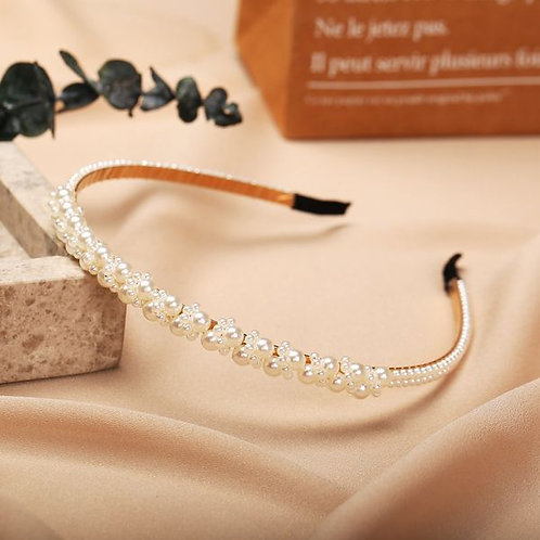 Retro Fashion Pearls Headband E