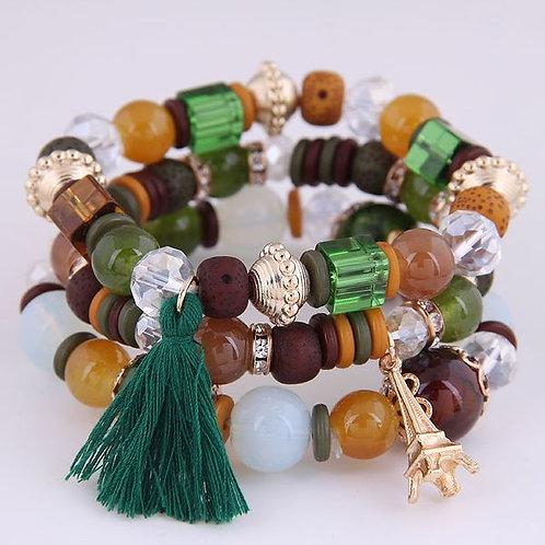 Tower Tassel Candy Beads Bracelet A