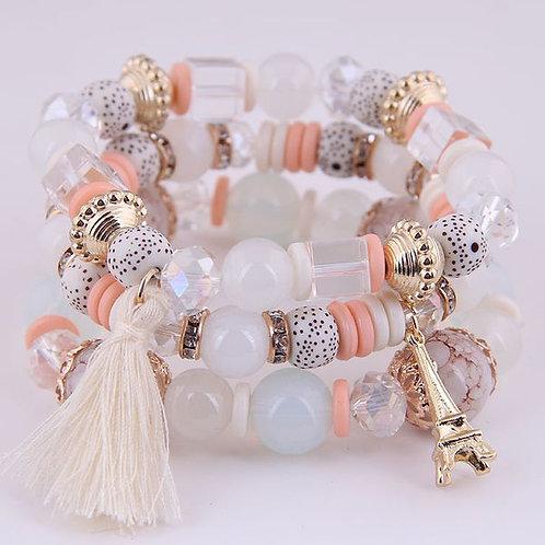 Tower Tassel Candy Beads Bracelet F