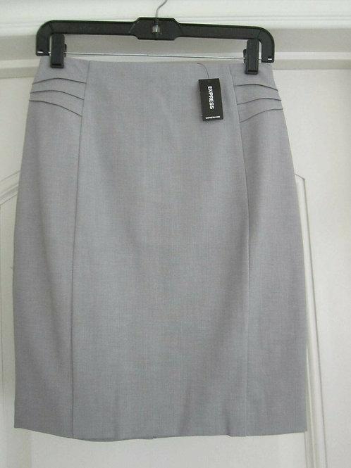 High Waisted Pintuck Pencil Skirt