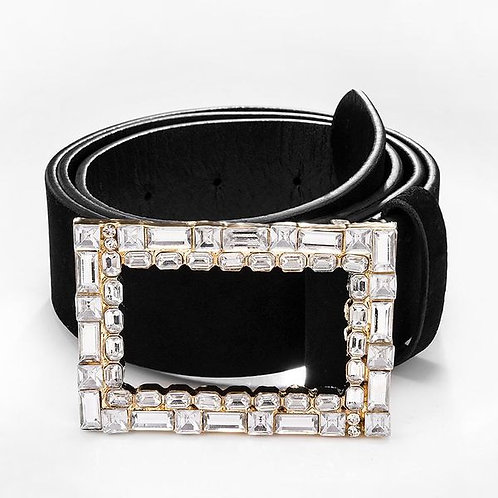 White Diamond Waist Belt S