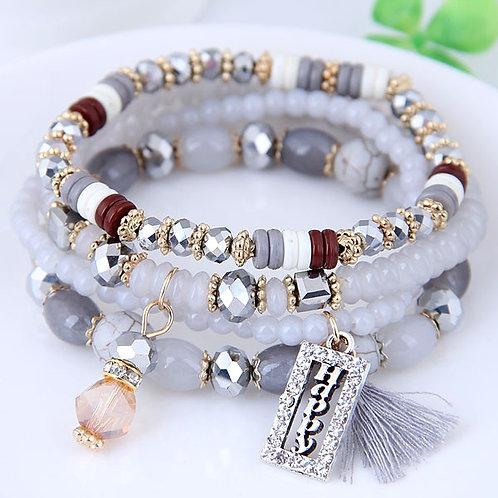 Crystal Beads Fashion Multi-layer Bracelet A