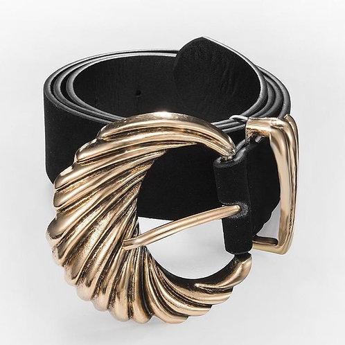 Golden Wide Waist Belt B