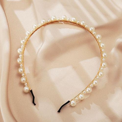 Retro Fashion Pearls Headband H