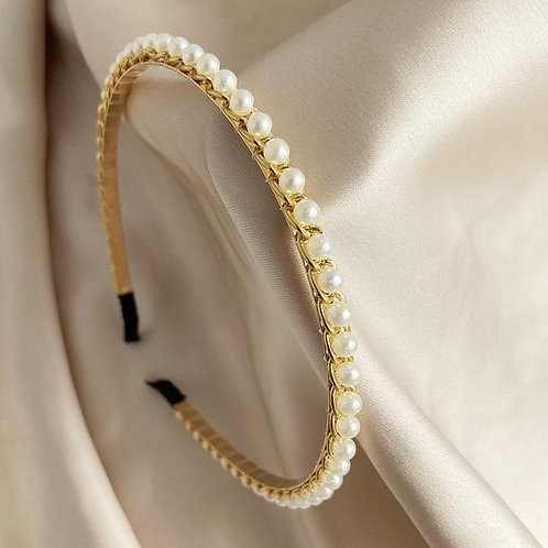 Retro Fashion Pearls Headband J