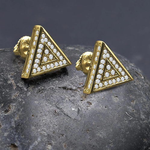Trigonal Screw Back Earrings G