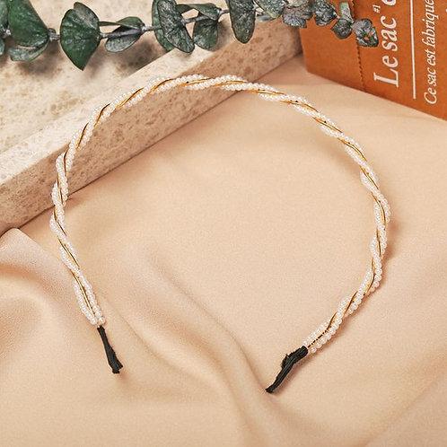 Retro Fashion Pearls Headband F