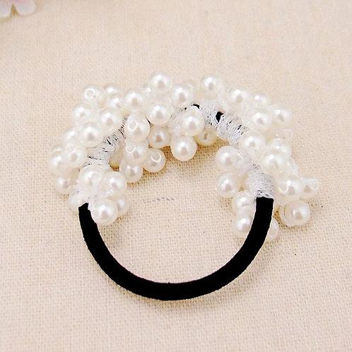Beaded Pearl Hair Ring W